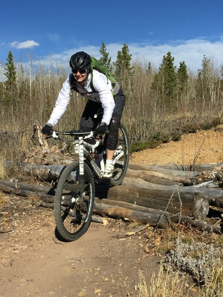 Fun little section on the Magnolia Trail in Nederland, Colorado.