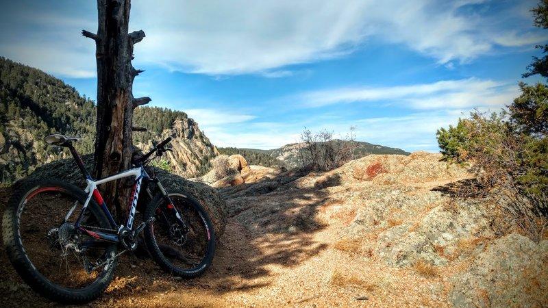 Overlook towards the Pike's Peak Toll Road.