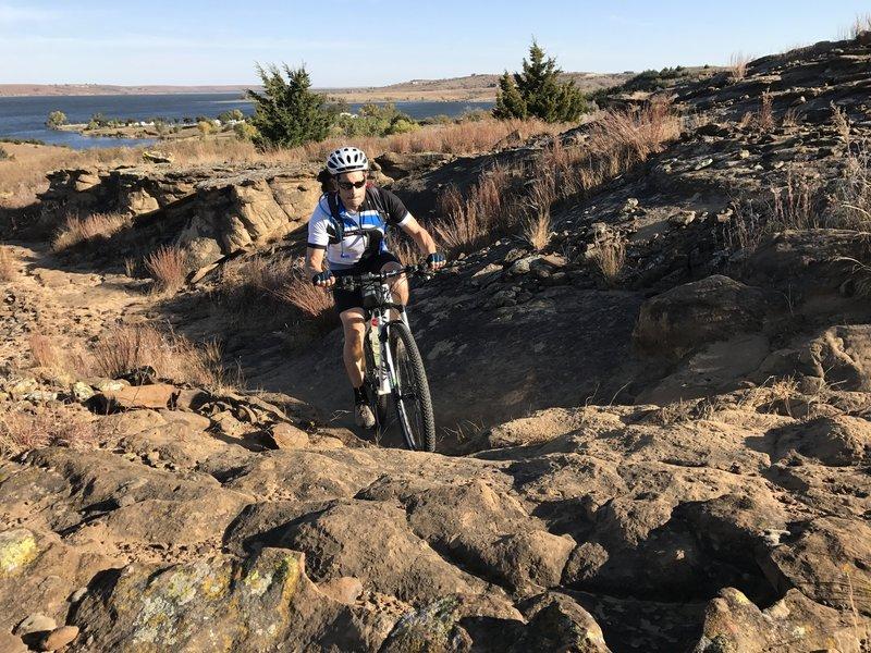 A tough climb in the second rock garden.