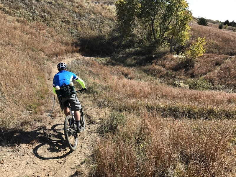 This section of the trail has a lot of fun downhills, but short, steep switchback climbs. Be ready for 'em!