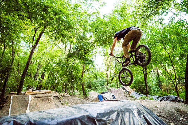Heading down the Main Line at The Garden Dirt Jumps.