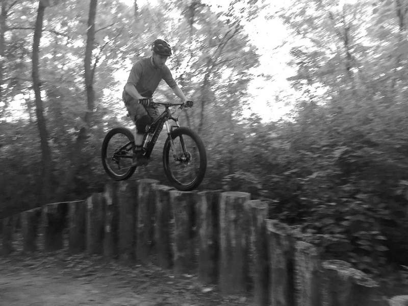 Riding the Browner stockade on my first ride aboard the Stumpjumper Plus Rig!
