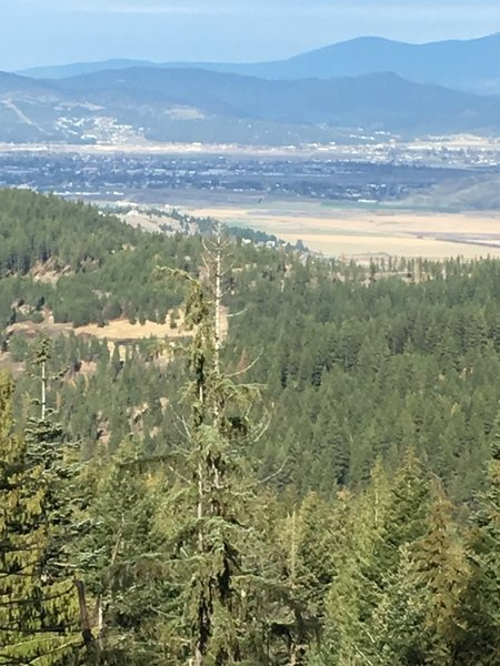 Great views of the Spokane Valley at the top.