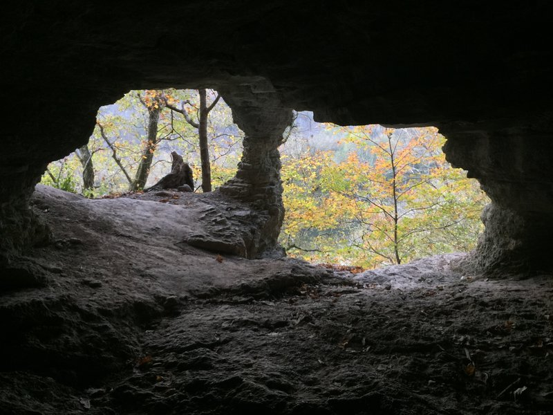 Yes the cave was cool, but super hard to get there in clipped shoes.
