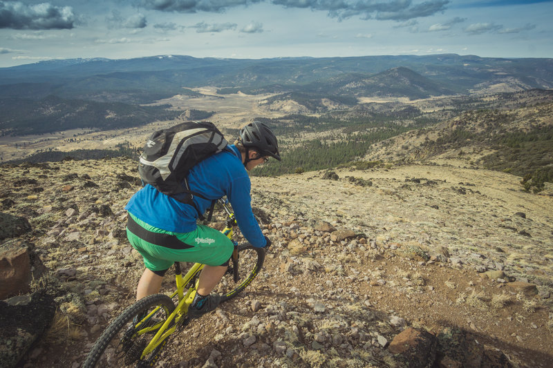 Leaving the summit of Morgan Butte.