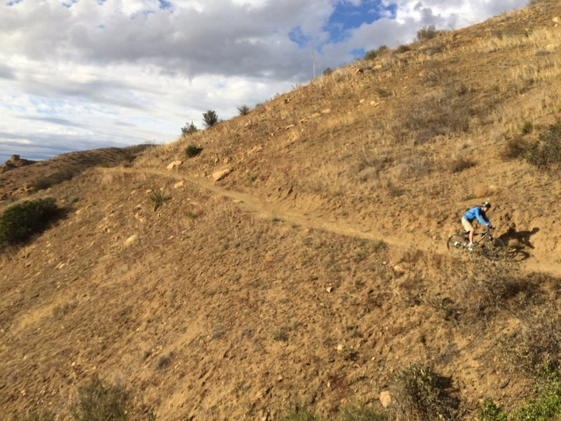 Downhill section
