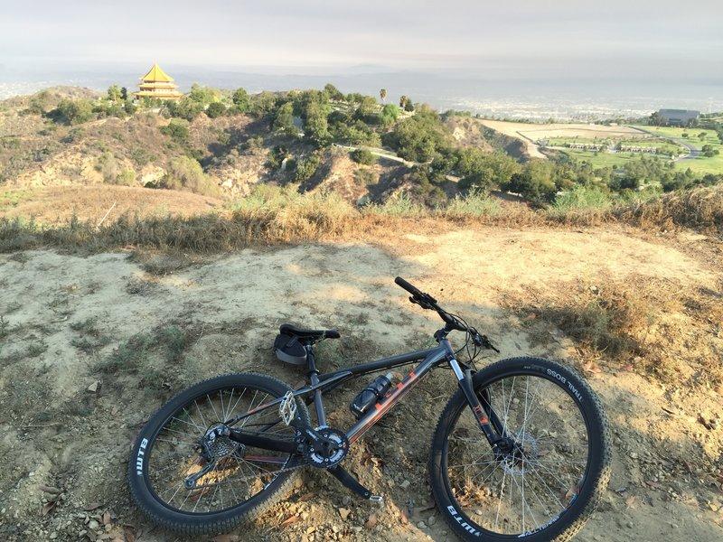 New bike overlooking Rose Hills Cemetary.