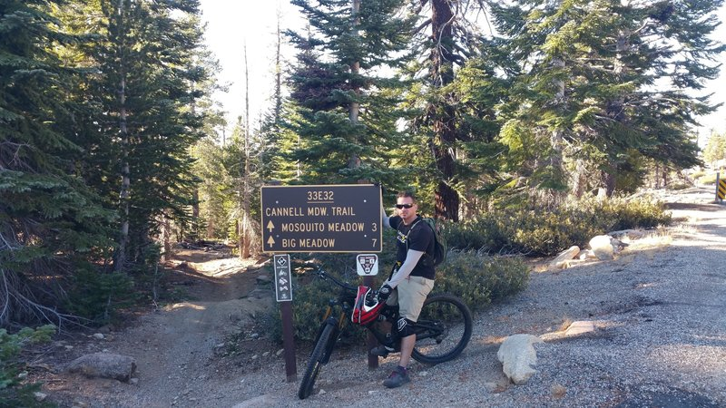Start at the trailhead sign