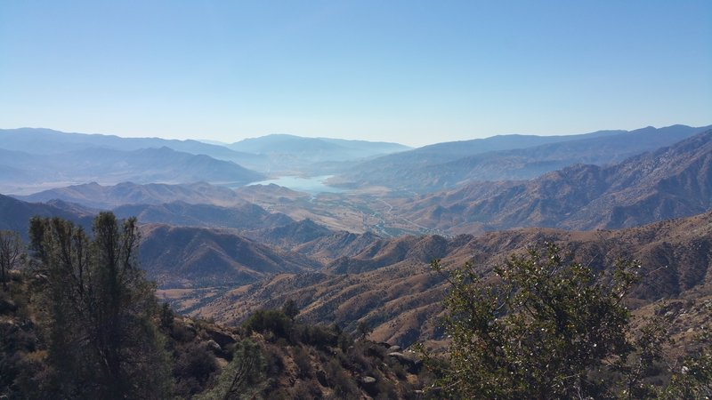 View from the Plunge to Lake Isabella