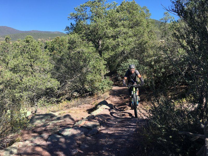 Peter, hitting it hard on the way out of Devil's Garden!