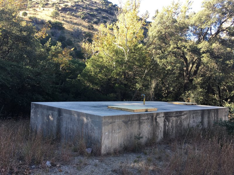 Water reservoir along Huachuca Canyon Road.