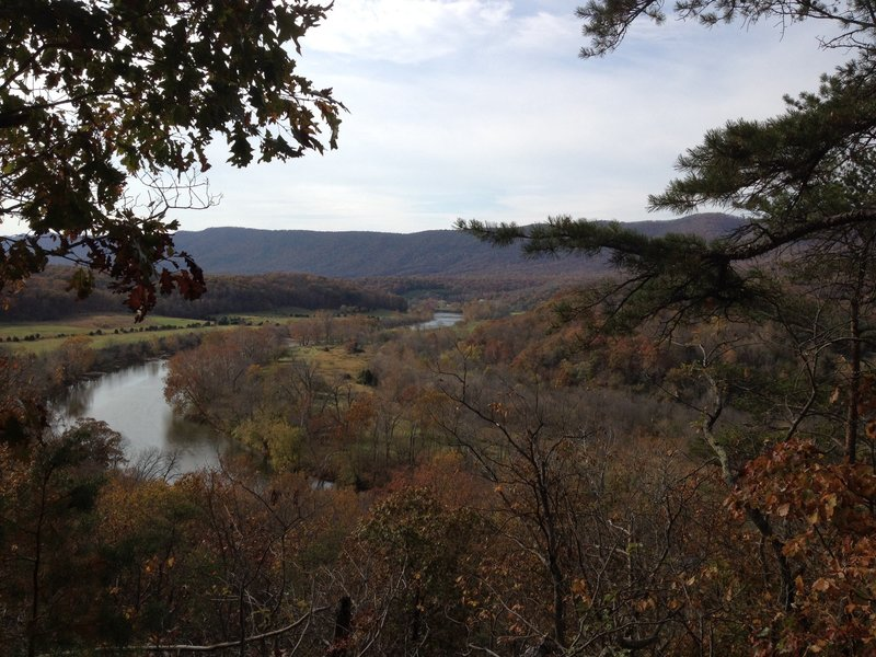 Great view from the trail in Andy Guest State Park looking out over the Shenandoah.