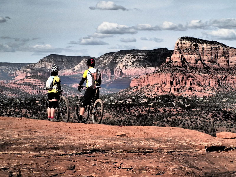 Taking a break to enjoy the incredible view in Sedona!