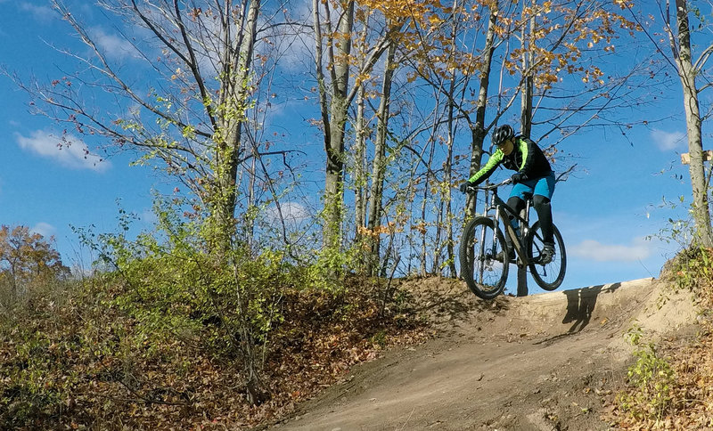 Todd S. hitting the drop off the Upper XC Trail!