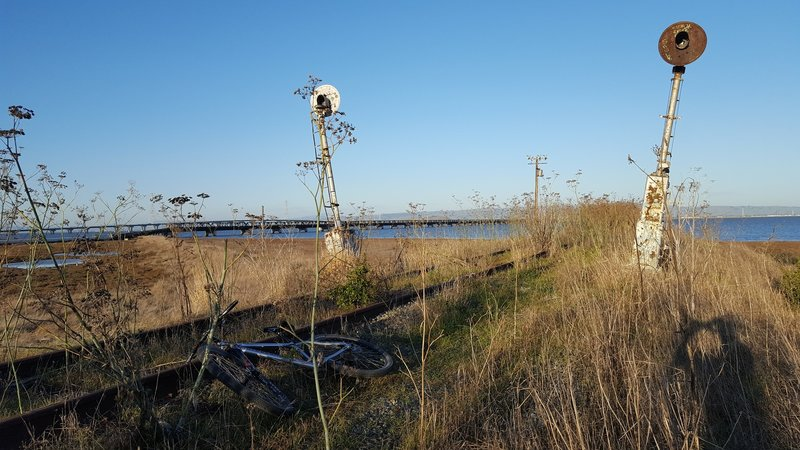 Abandoned railroad near Ravenswood Open Space.