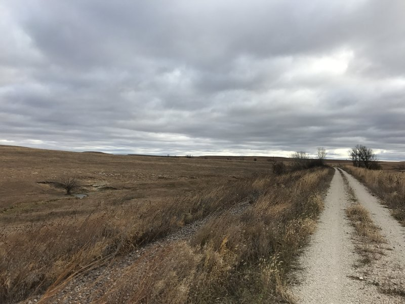 I don't exactly recommend riding this trail on a 43 degree day with 30mph winds.  LOL!