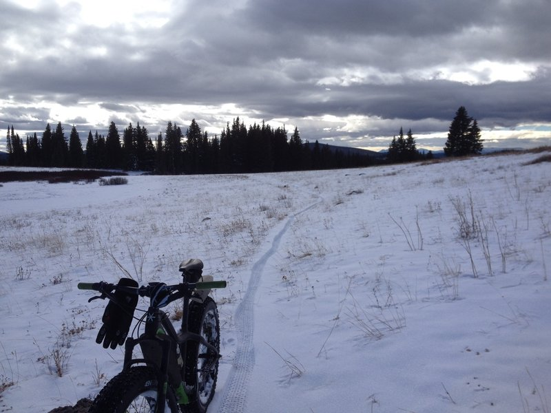 11/20/16 Perfect snowy conditions.  FT1101 segment before Base Camp.
