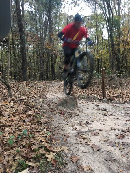 Bunny Hop off a Rock on a very flat trail!