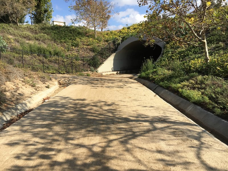 Serrano Creek Trail dives under the intersection of Rancho and Lake Forest.