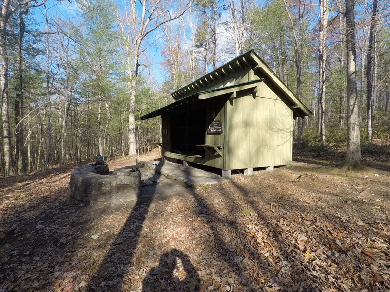 Little Crease Shelter. 4 bunks and has a spring nearby.