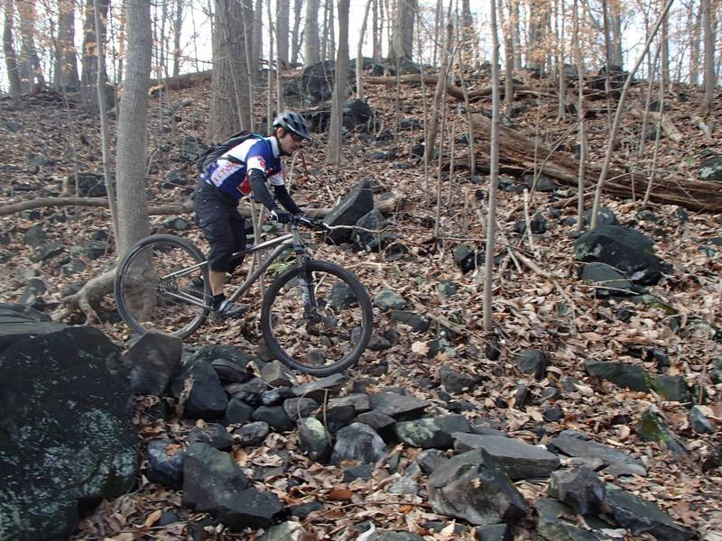 Although it's mostly hardpack dirt at Patapsco Valley State Park, you'll find plenty of rocky bits to challenge your skills.