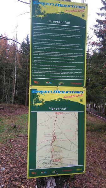 Green Mountain Downhill Trail Signage
