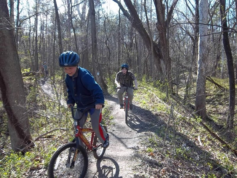 Boonville Bike Club members shredding the trail!