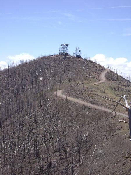Antennas on Mt. Elden.