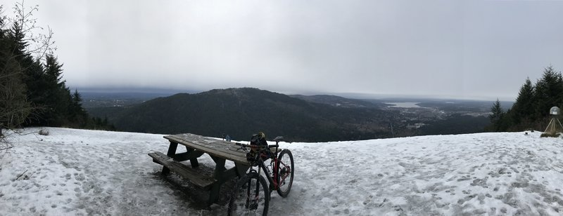 Snow capped Poo Poo Point on 12/11/16
