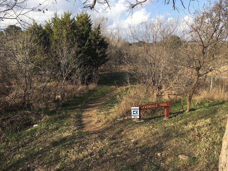 Trailhead at Lavendale Trail.
