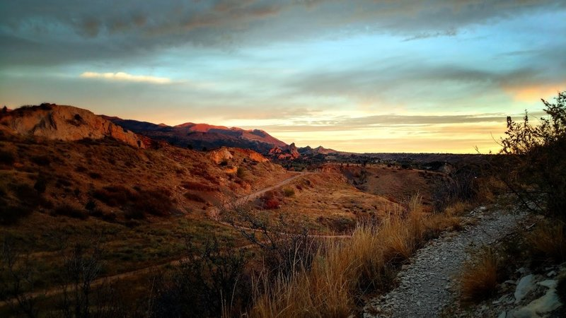 Sunrise over Red Rock Canyon.