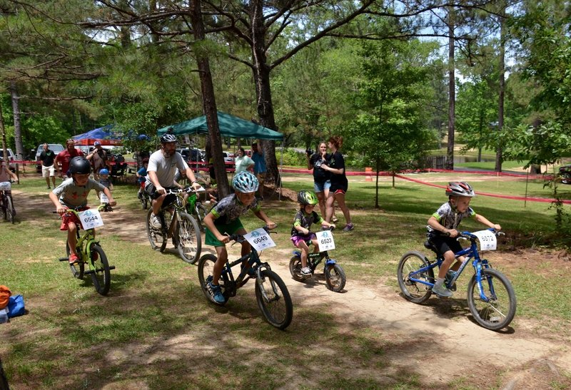 Young racers get their start at the Dust N Bones race  at Mt. Zion Bike Trails.