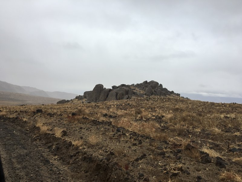 Granite outcropping near Crater Mountain on McMurry Meadows Road.