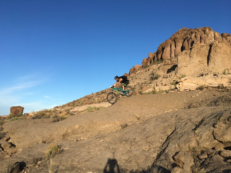 A rider enjoys the beauty of Monolith Gardens.