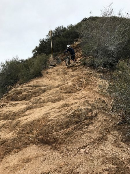 A steep section challenges riders on the Middle Sam Merrill Trail.