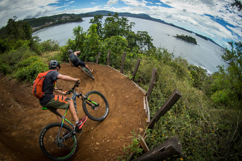 Swooping switchbacks with an ocean view make for an awesome ride!