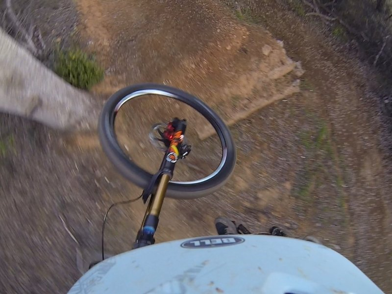 A great gap jump gives riders the opportunity to get movin' on the FB Trail.