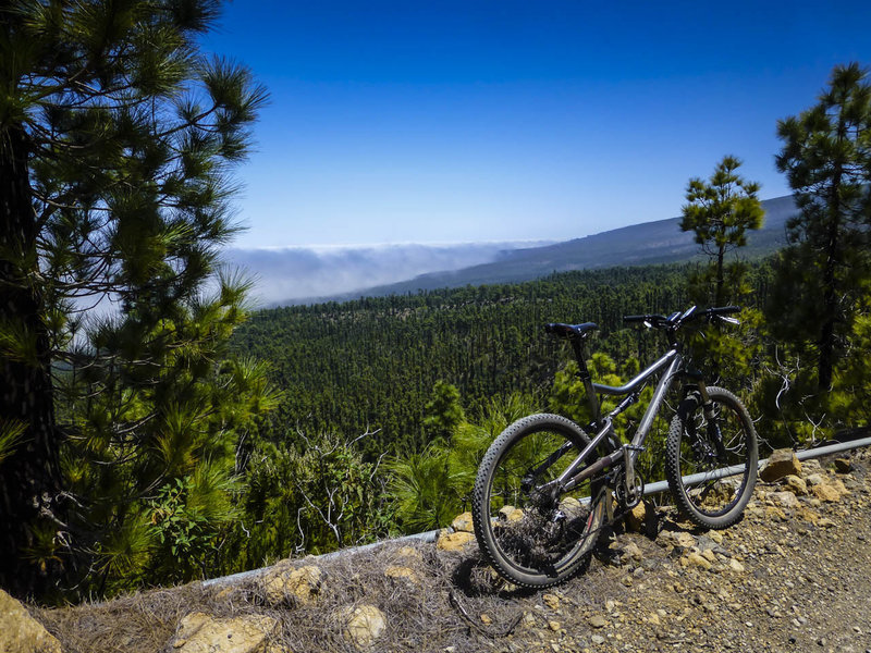It's not unusual to ride above (or in) the clouds on trails on the north side of Tenerife.