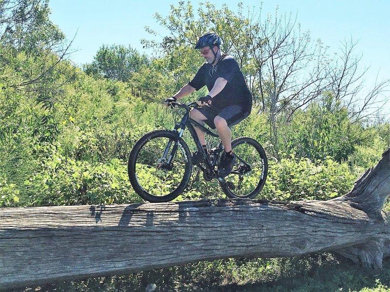 A rider tests his balance inbound on Loop 6.