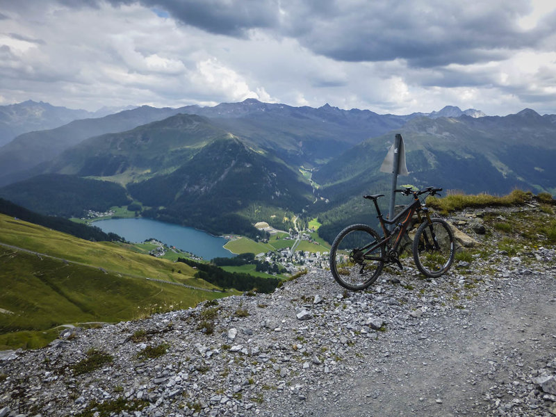 This is a panorama of the Davosersee and Davos from what else but the Panoramaweg.