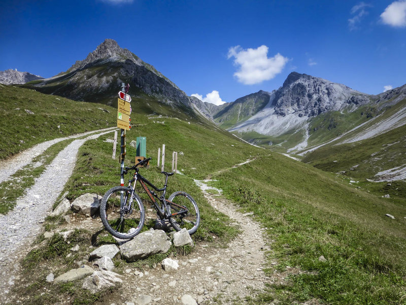 You could get lost out here (that's half the fun!), but the Swiss have erected really good trail markers so when you do decide you want to go back, the trail markers will get you there!