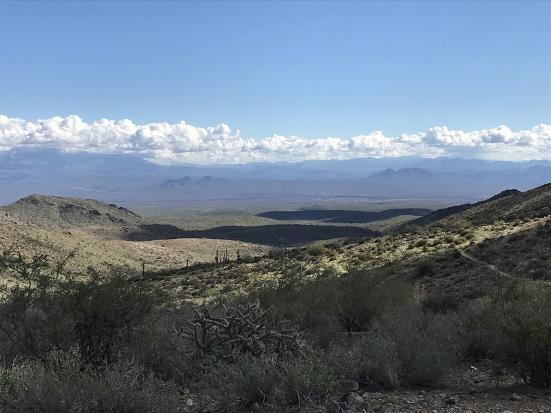 Enjoy this view from the top of the pass looking east along the Windgate Pass Trail.