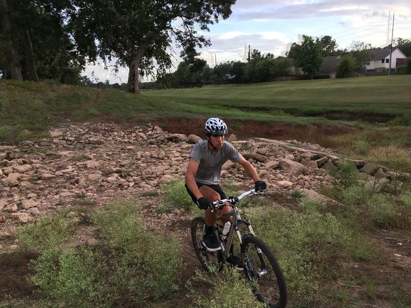 A rock garden adds a little spice to the trail.