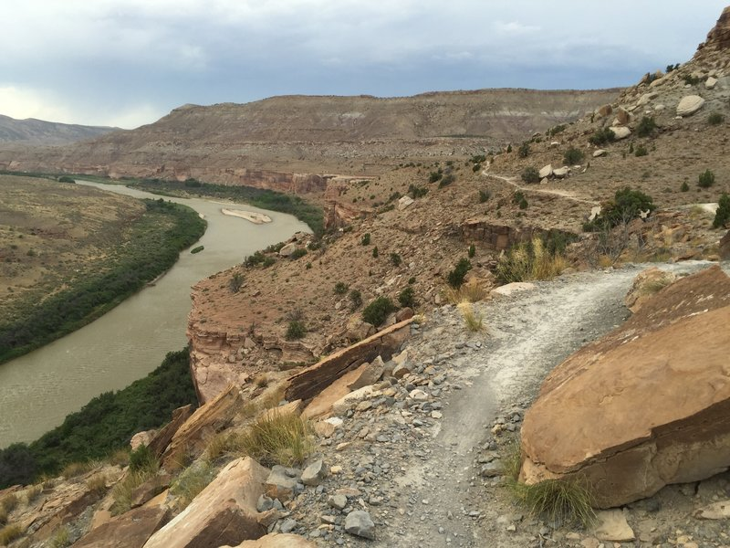 Roll along this smooth section of Kokopelli to experience gorgeous views of the Colorado.