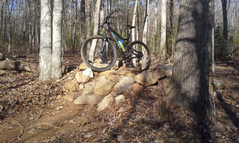 Enjoy this great rock feature on the Woolwine East Loop.