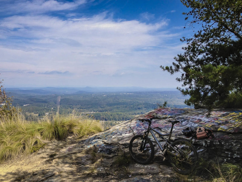 The climb to the top of Currahee Mountain is worth the view and is very colorful.