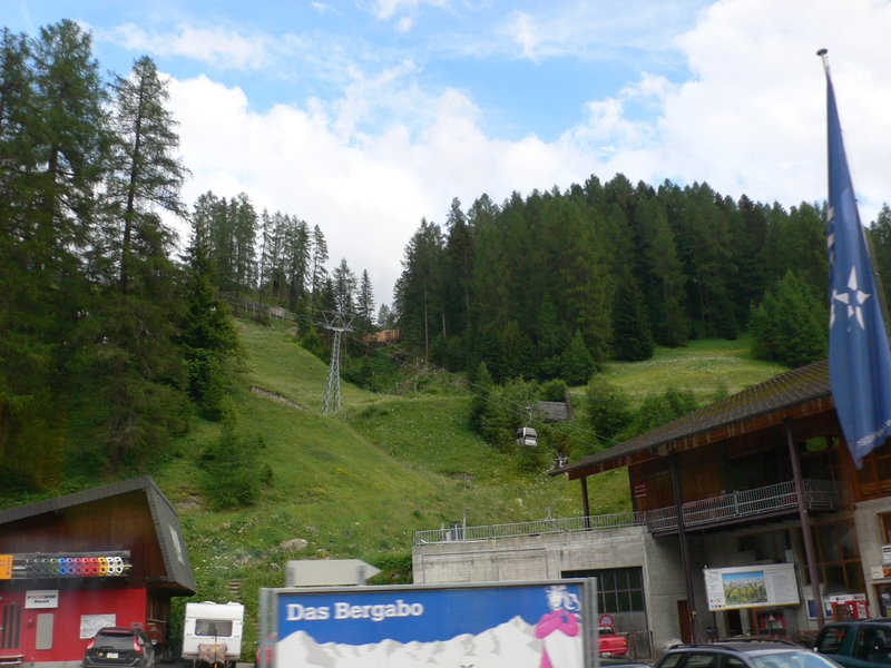 This is the view up from the Davos Glaris BGR gondola.
