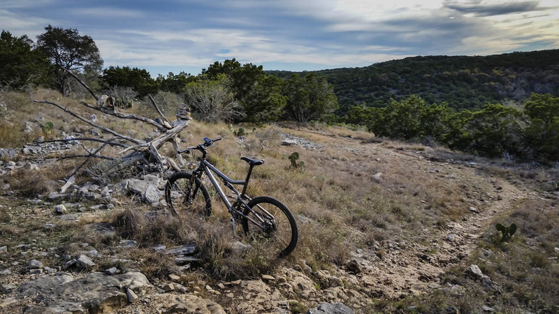 This is the typical rocky singletrack you'll find at Hill Country State Natural Area - Enjoy!