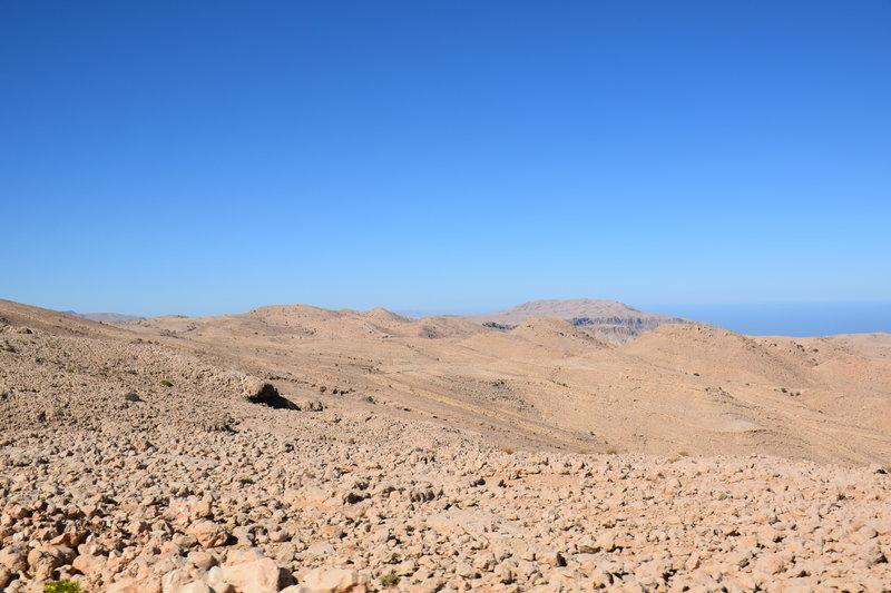 The starkly beautiful Salma Plateau overlooks the sea.