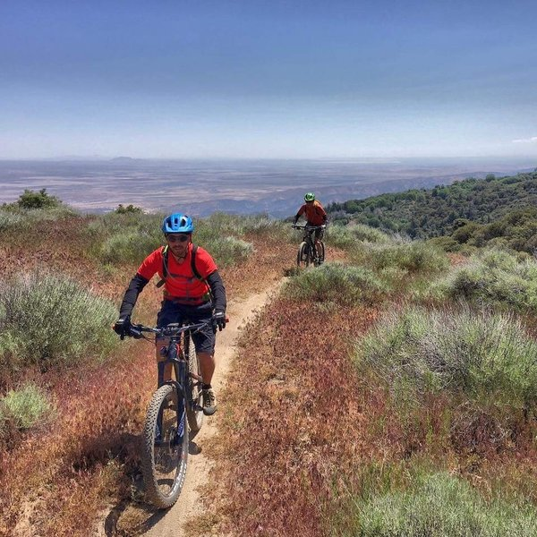 The Mojave Desert provides the background to our awesome ride in Angeles National Forest.